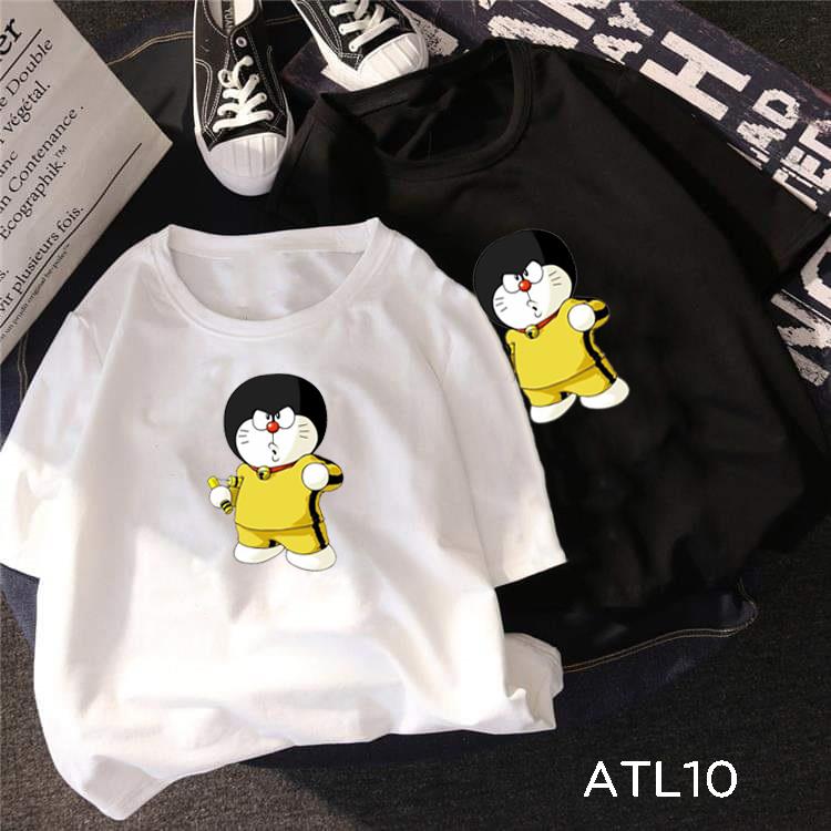 Áo thun Doraemon Lý Tiểu Long, áo thun tay lỡ unisex