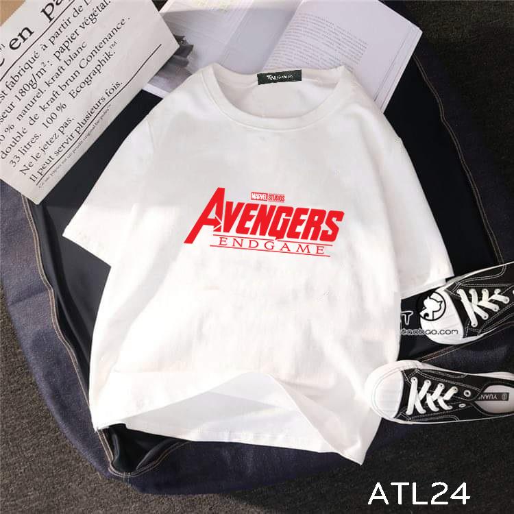 áo thun tay lỡ hình avengers end game