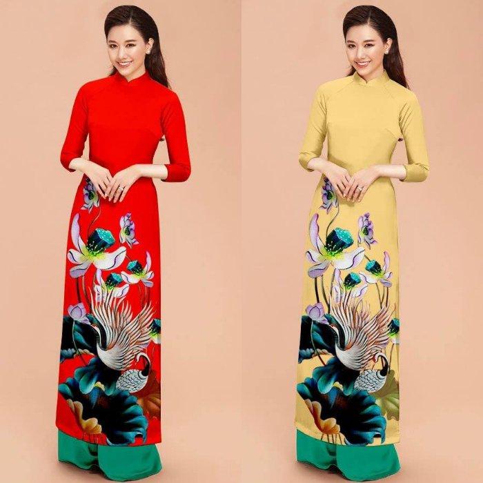 Áo dài hoa sen chim hạt, áo dài truyền thống