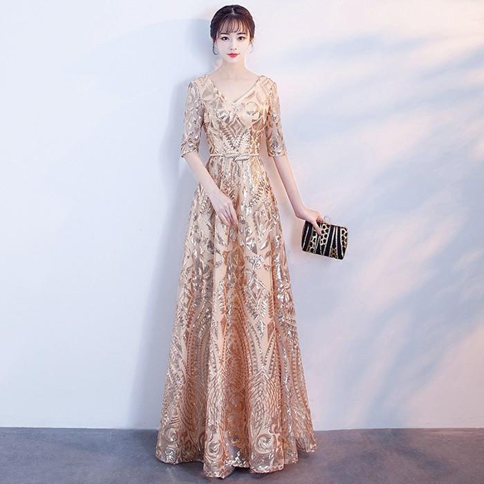 Đầm dạ hội tay lỡ xòe
